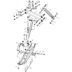 Подвеска передняя и лыжа  для C70300100