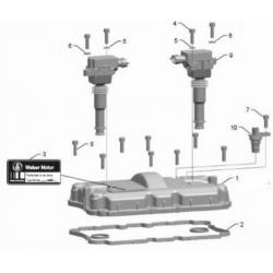 Установка крышки клапанного механизма