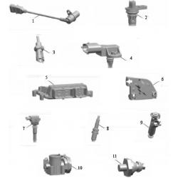 Элементы системы управления двигателем
