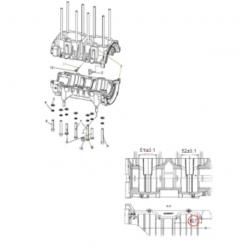 Картер двигателя С40501110  для к/вала С40500610