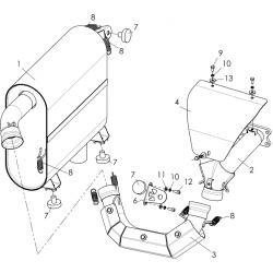 Система выпуска с глушителем С40400420
