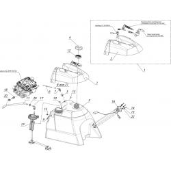 Система питания с погружным насосом с баком топливный С40802210