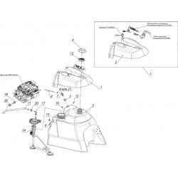 Система питания с погружным насосом с баком топливный С40802230