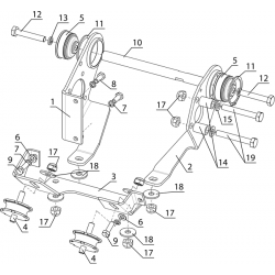 Крепление двигателя (1 карбюратор)
