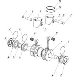 Вал коленчатый С40500230, поршни (система зажигания DUCATI)