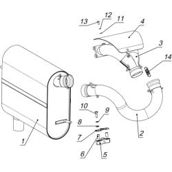 Система выпуска с глушителем