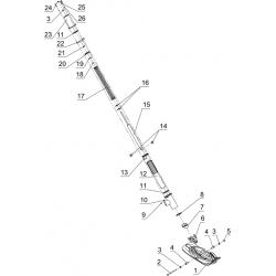 Подвеска передняя и лыжа для C40301100
