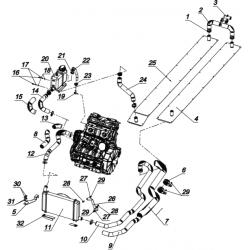 Система охлаждения С40502300