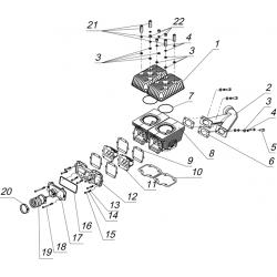 Цилиндровая группа и элементы систем впуска и выпуска