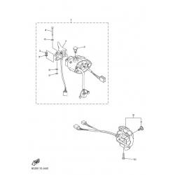 Блок руля правый, рычаг газа/VK 10